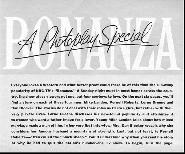 Bonanza Special Page One